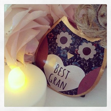 50% OFF  Mini Best Gran Tin Hanging Owl